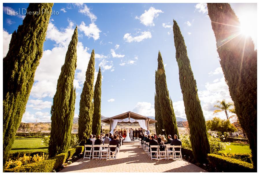 Morgan Hill Clubhouse Temecula California Outdoor Wedding Venue Ceremony Liesl Diesel Photo