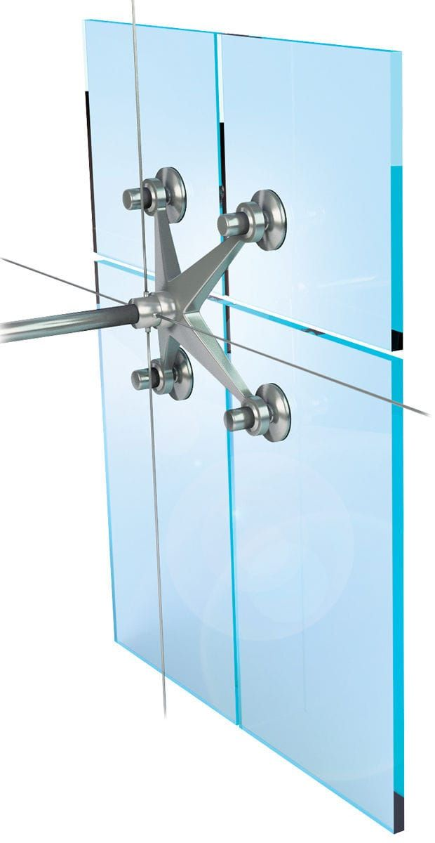 Steel Fastening System For Glass Facades Spider