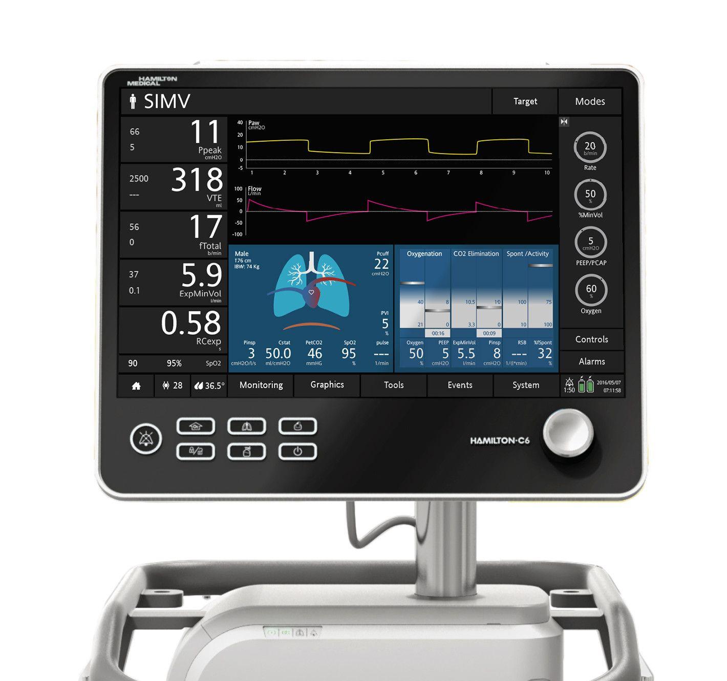 Hamilton C6 Medical Device Design Hospital Interior Design Medical Design