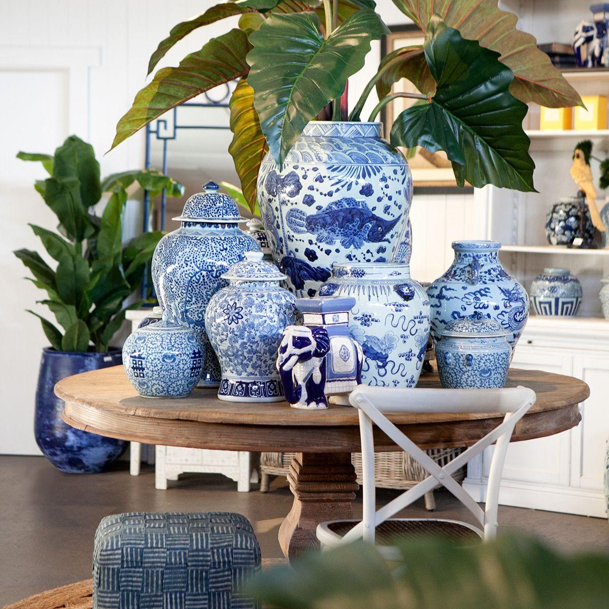 Blue and White Ginger Jar inspiration