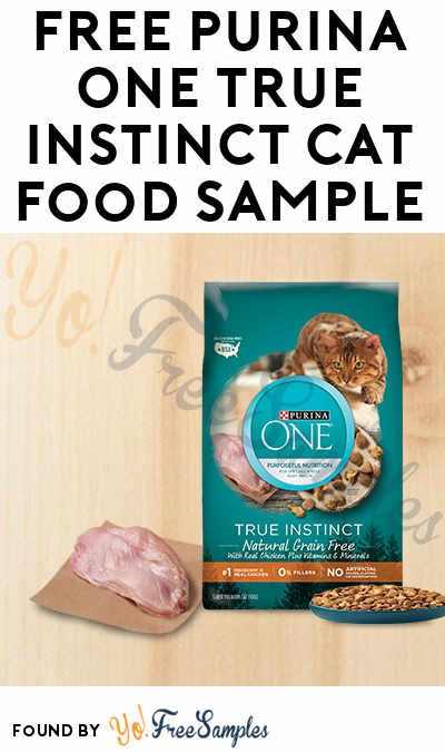 Free Purina One True Instinct Cat Food Sample Verified Received