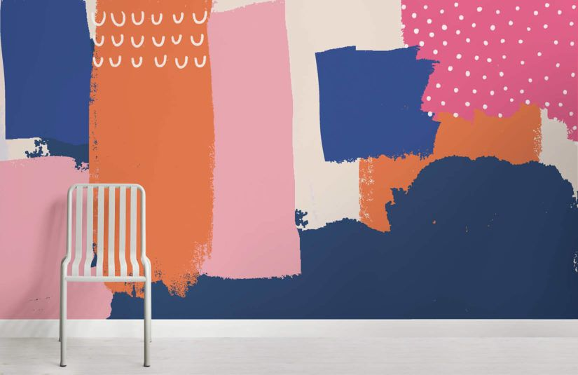 Bright Abstract Wallpaper Cool Paint Design