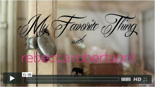 Rebecca Robertson: My Favorite Thing — Apartment Therapy Videos