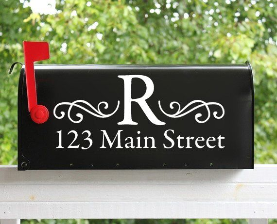 Personalized Mailbox Decal Custom Vinyl Mailbox Decal With - Custom vinyl decals for mailbox