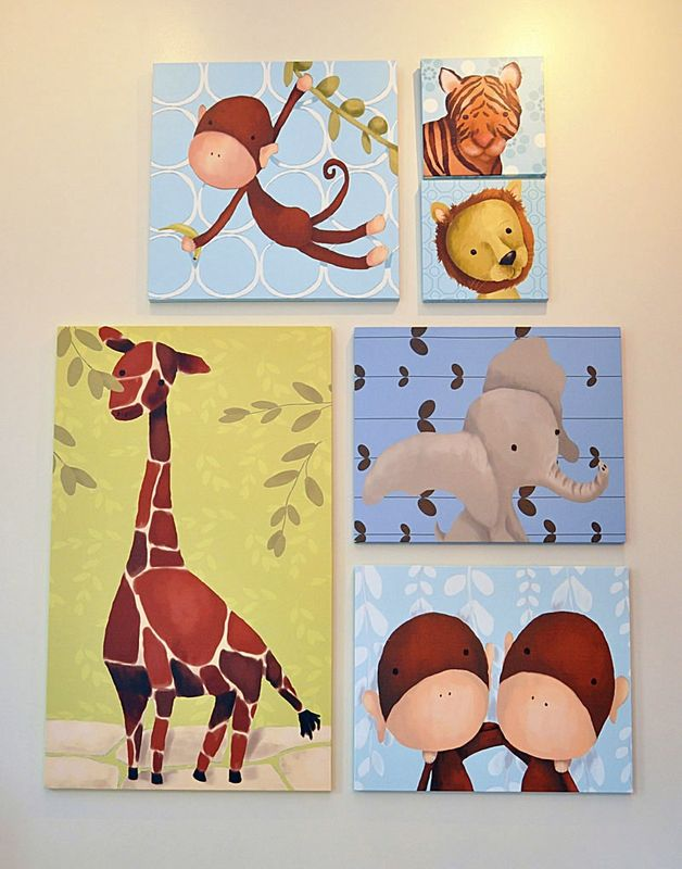 Rauri the Lion in Powder Blue Canvas Wall Art   Layouts, Canvases ...