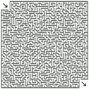 photograph relating to Printable Mazes Hard titled Fairly Impossible Mazes Coloring Website page Mazes!!! Printable