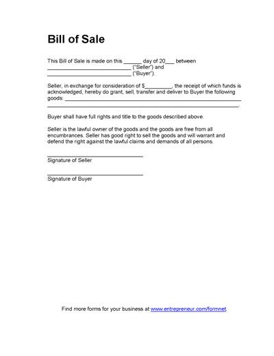 Legal Document Transfer Of Ownership Receipt Template Word