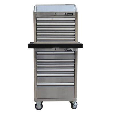 kobalt tool cabinet 27-in stainless steel tool chest & cabinet ...