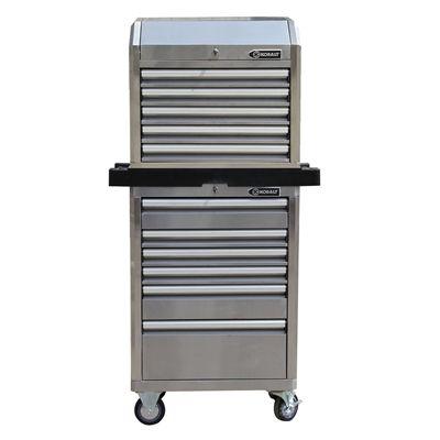 kobalt 27-in stainless steel tool chest & cabinet | my hobby room ...