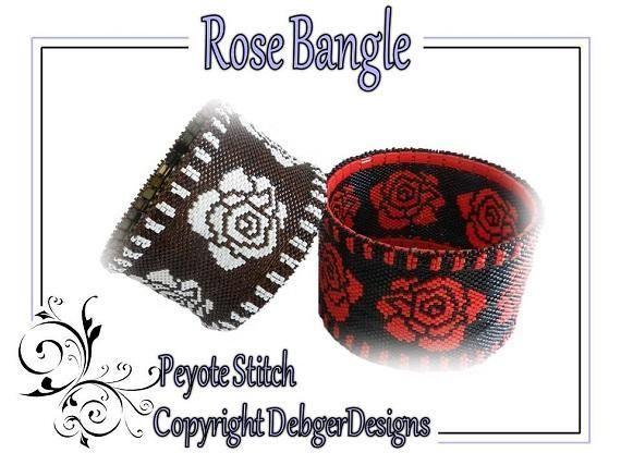 Rose Bangle - Beading Pattern Tutorial - via @Craftsy      $7.50