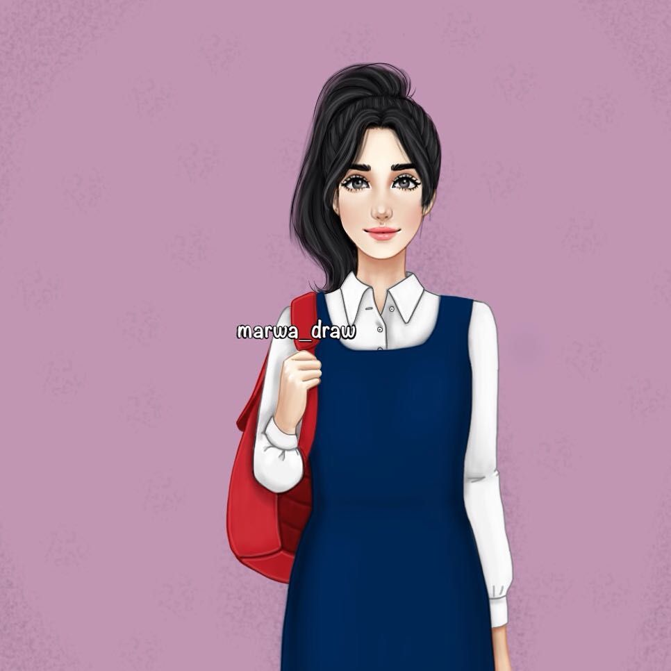 صور رسم بنات كرتون رمزيات رسومات انمي للانستقرام Digital Art Girl Art Girl Girls Cartoon Art