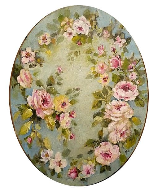 Shabby chic pinturas pinterest painted table tops for Couronne shabby chic