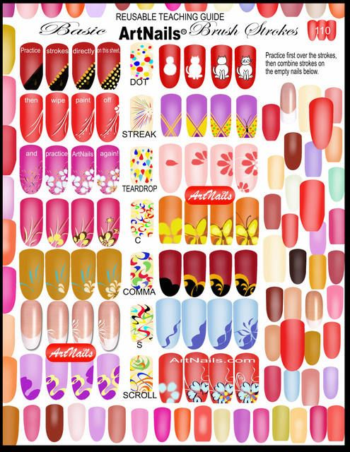 Nail art practice sheets, more in comments | Nail techniques, Nail ...