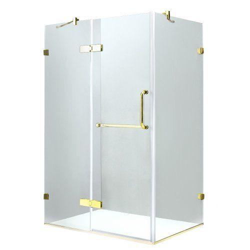 Vigo Vg6011pbcl40 Frameless Tempered Glass Bathroom Enclosure