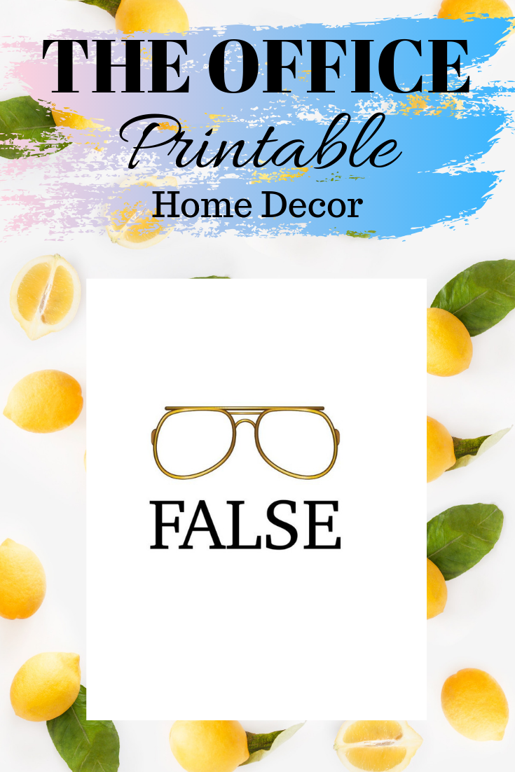 Dwight Schrute False With Glasses Print Instant Download Etsy Home Quotes And Sayings Instant Download Etsy Quote Prints