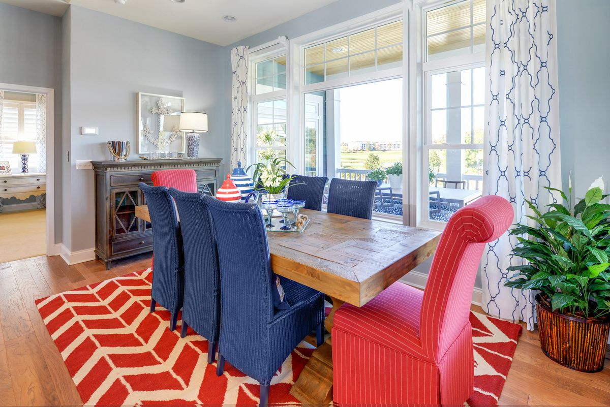 Comfy Cozy In The Dining Nook Of Sanibel Model At Bayside