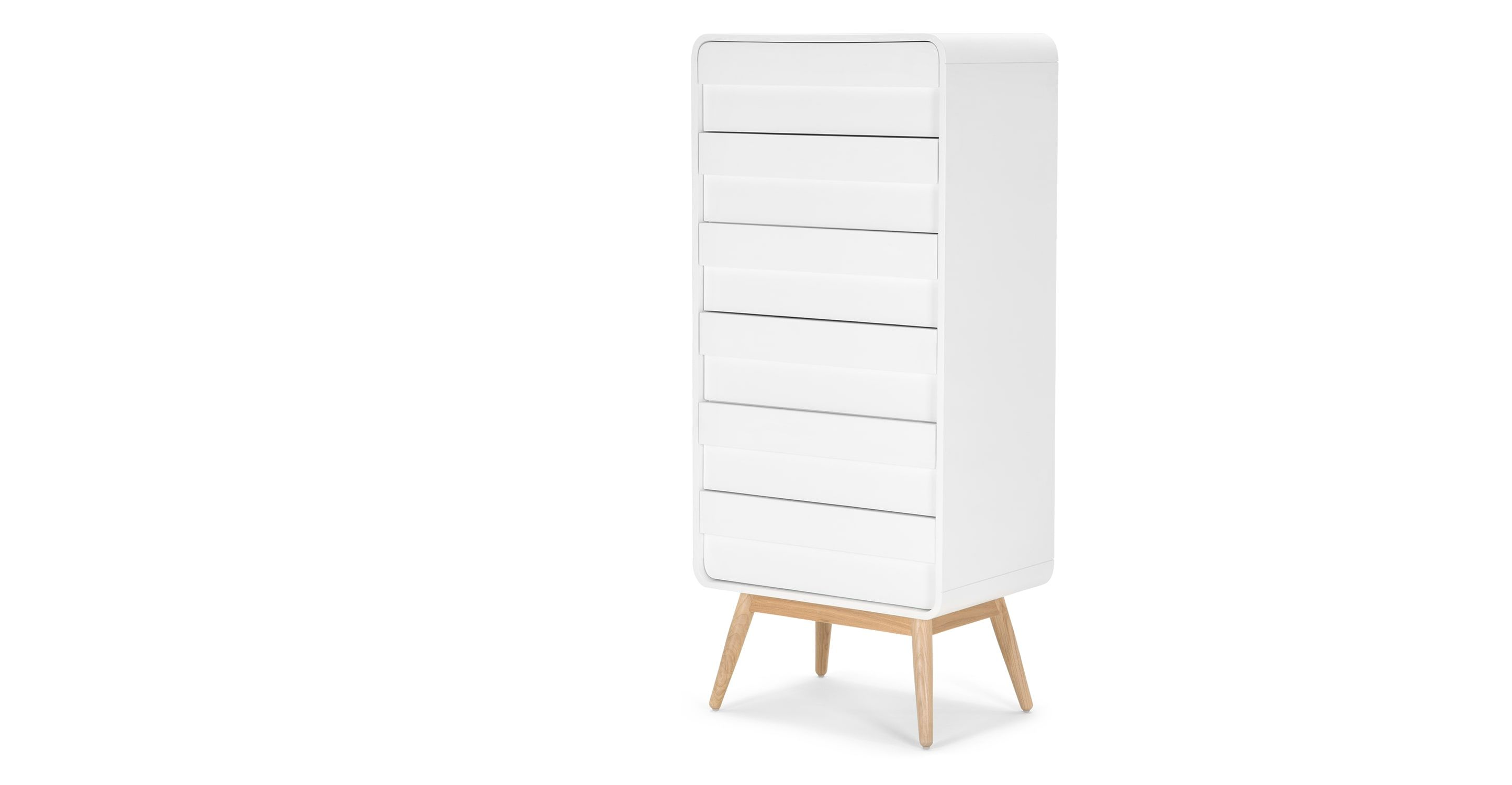 Commode Haute Chambre Esme Commode Haute Frêne Et Blanc Chambre Chest Of Drawers