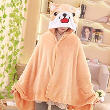 8388008a4 CORIRESHA Cute Coral Celvet Long Sleeve Shiba Inu Dog Home Wear Clothes  Hoodie Sweatshirt with 3D Dog Ear and Dog Tail at Amazon Women's Clothing  store: ...