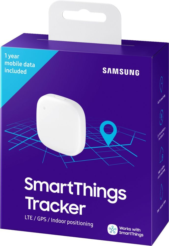 Secure yourself, a loved one or valuables with this smart, versatile Samsung SmartThings tracker. Its geo-fencing feature triggers smart home automations or alerts you when a pet or person who has it leaves or enters your designated zone. Double-press the button of this IP68-rated Samsung SmartThings tracker to notify authorized persons of your current location.