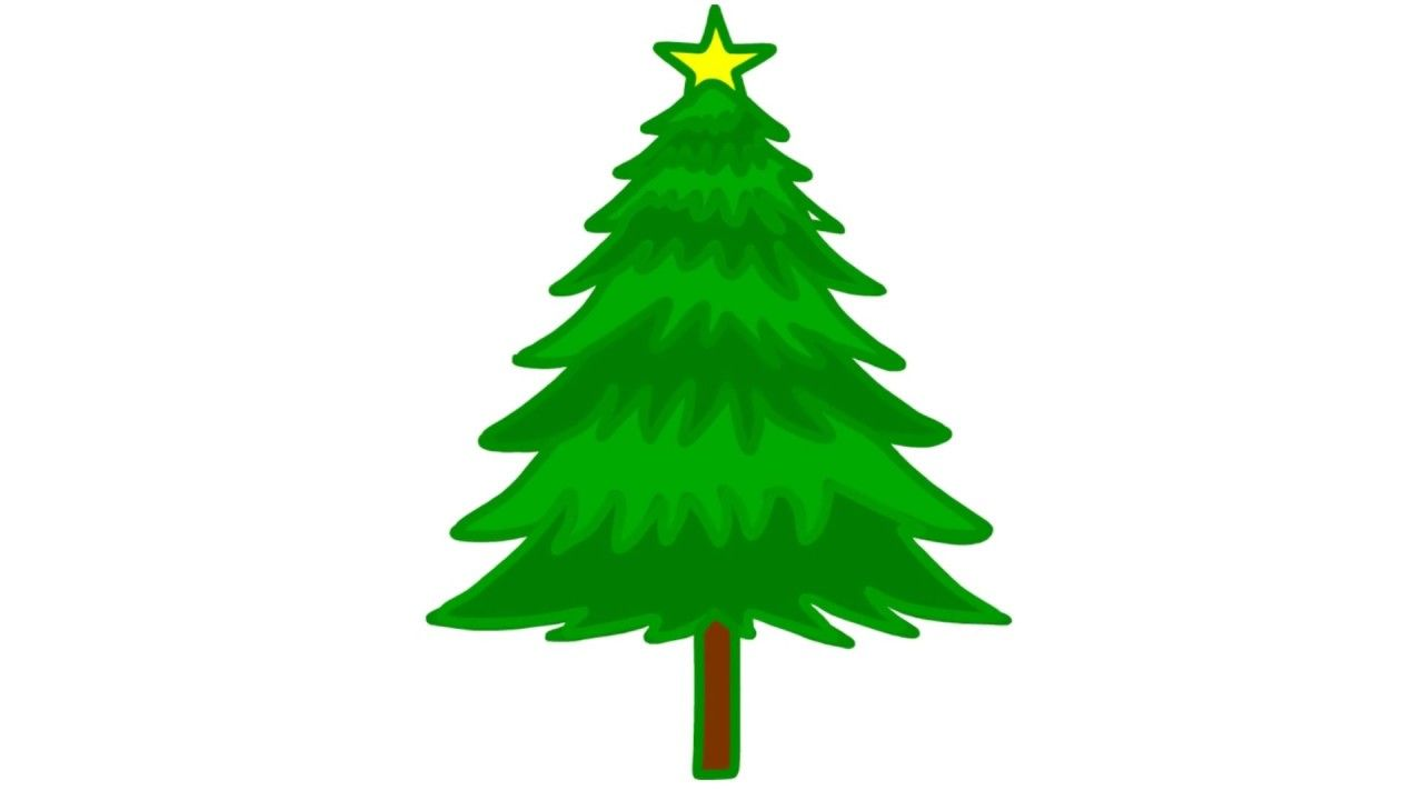 how to draw a christmas tree very easy drawing tutorial for kids