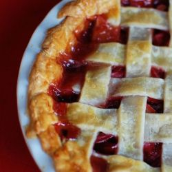 the epitome of a southern summer, the rhubarb pie