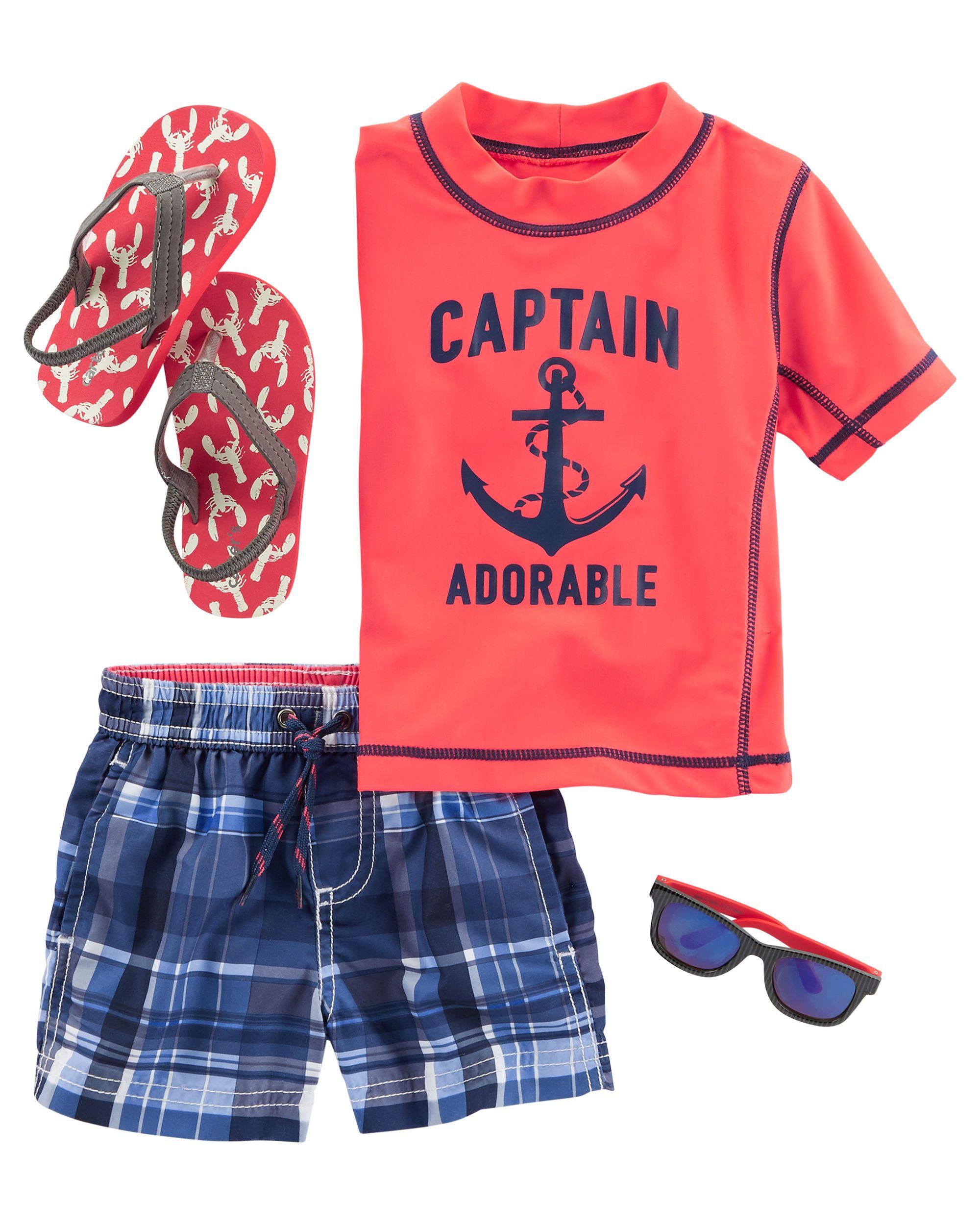 Baby Boy Captain Rashguard Ethan Pinterest