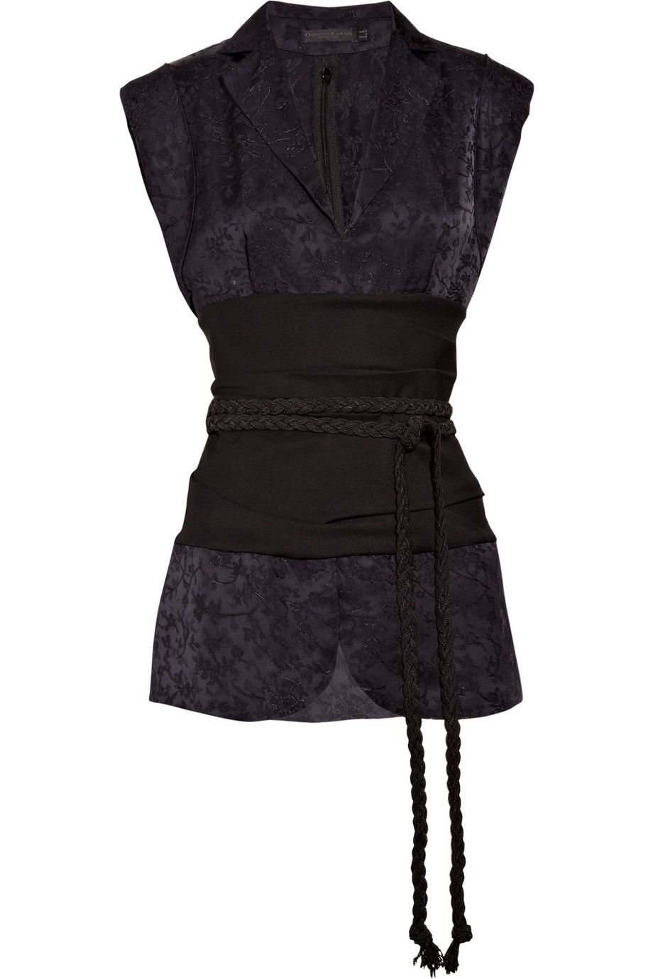 DONNA KARAN  Chinoiserie satin jacquard and crepe top fashion clothes clothing pretty beautiful goth gothic kimono