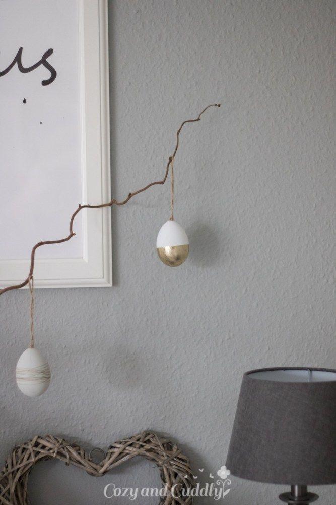 Ein kleiner Ostergruß \u2013 Oster-Deko im Wohnzimmer in Schwarz-Weiß - wohnzimmer schwarz wei
