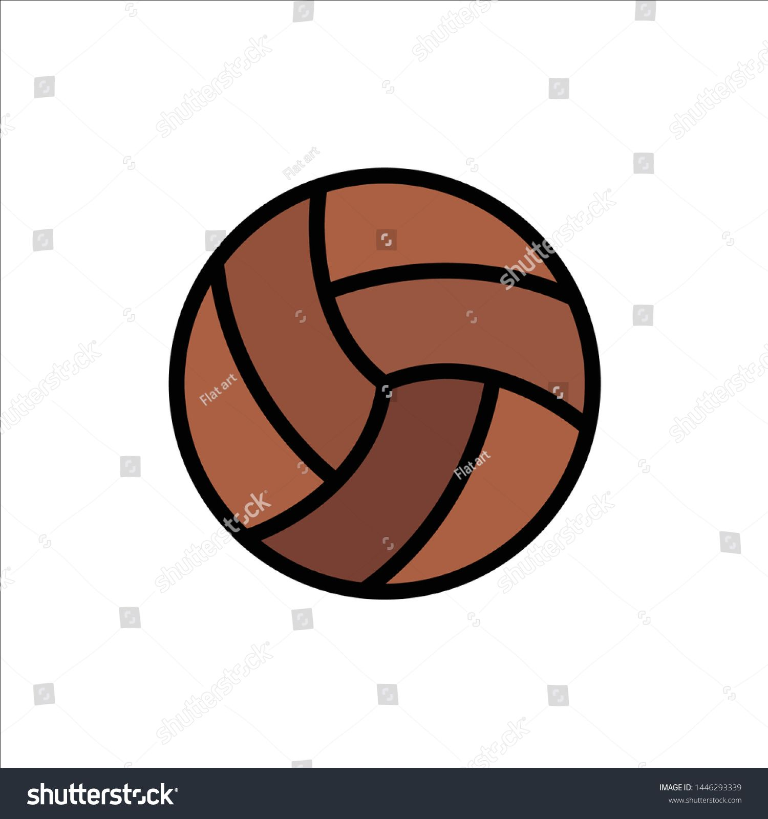 Ball Volley Volleyball Sport Flat Color Icon Vector Icon Banner Template Ad Sponsored Sport Flat Portrait Photography Tutorial Flat Color Sport Flats