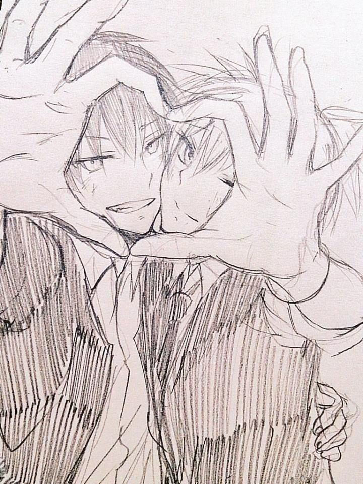 Рисунки пары аниме