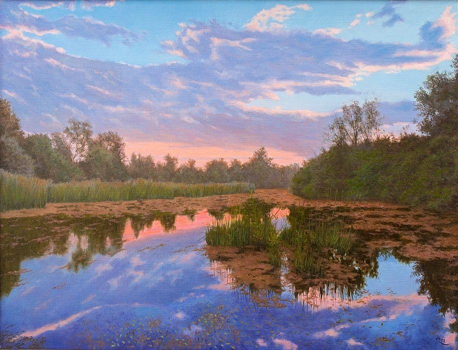 Painting Calmness By Dejan Trajkovic 1 200 Canvas Oil 65x85 Cm Jose Art Gallery Landscap Landscape Original Landscape Painting Landscape Paintings