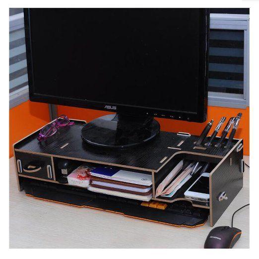 Monitor Stand Monitor Lift Desktop Organizer Work Space Organizer