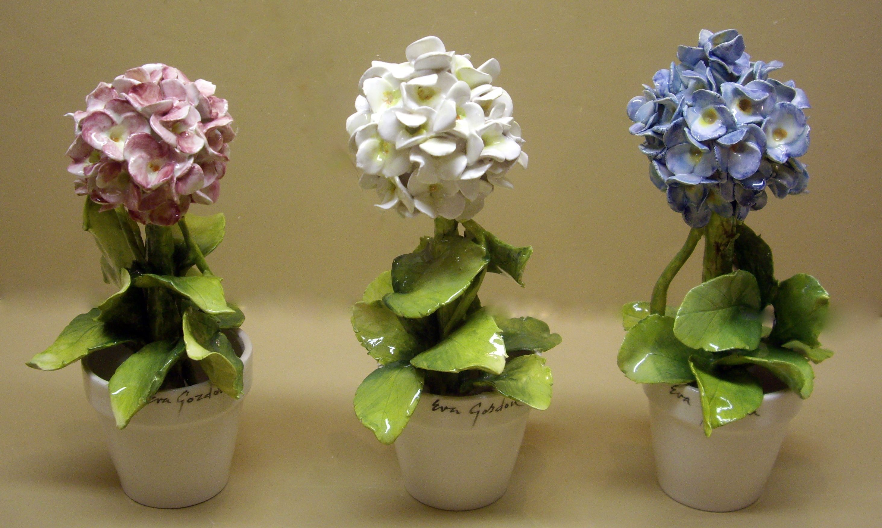 Elements For Good Living Protocol Gifts Porcelain Flowers Hand Painted Ceramics Clay Flowers