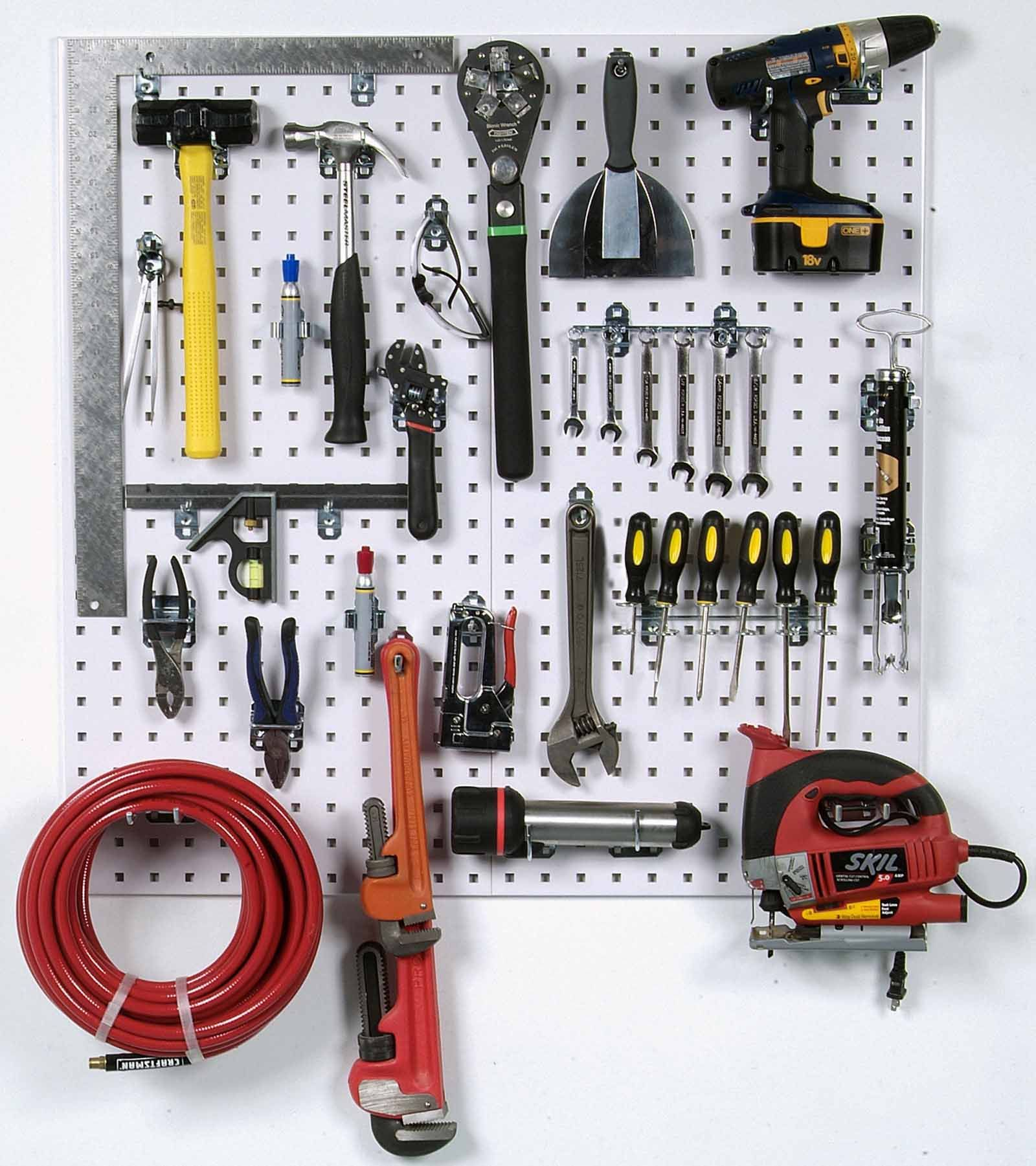 Triton Products Locboard Wall System Square Hole Pegboard And Locking Hook Organizer Walmart Com In 2021 Pegboard Organization Pegboard Storage Peg Board