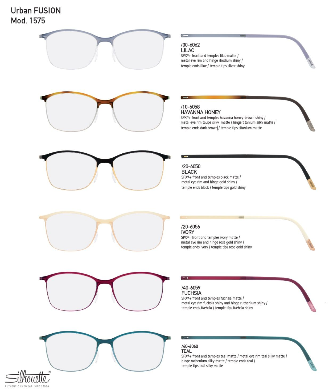 7c71924c8 Silhouette Urban Fusion Fullrim 1575 Eyeglasses Fashion Eyewear  Women's/Unisex SPX+ Titanium #Silhouette #