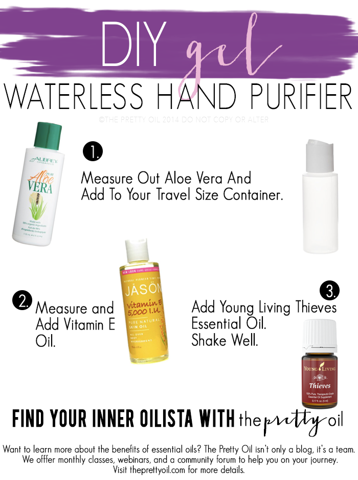 Toxic chemicals that are in the waterless hand 'cleansers' you can buy at the store. Making your own DIY hand purifier with essential oils is easy, safe, and smells amazing!