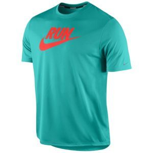Nike Dri-Fit Graphic Running T-Shirt - Men's - Sport Turquoise/Total