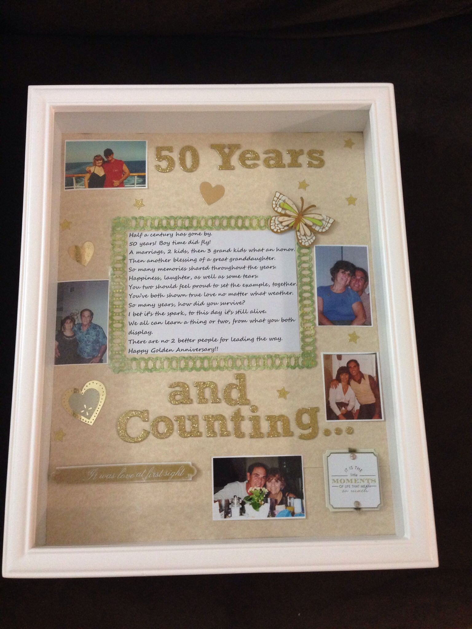 Golden Anniversary Shadow Box Wedding Shadow Box Shadow Box