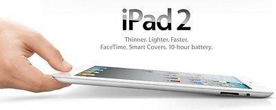 Apple iPad 2 32GB Wi-Fi 9.7in - White (MC981LL/A)
