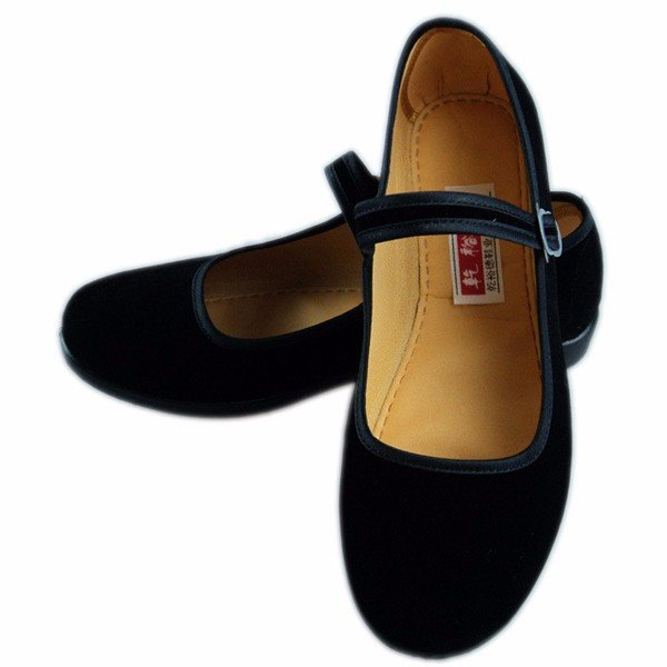 1c988f575f5b7 Black Buckle Dance Ballet Flat Mary Jane Chinese Style Shoes ...