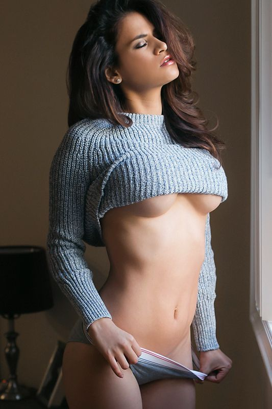 naked-girl-with-a-sweater