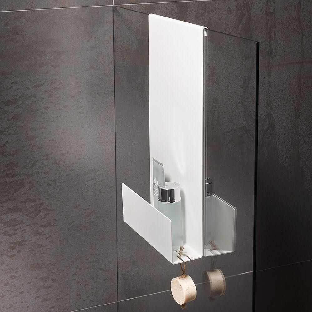 Keuco Shower Shelves In Addition To Wall Mounted Models There Is Also A Showershelf That Can Be Hung On The Glass Screen For More Inf Tuvaletler Raf Banyo