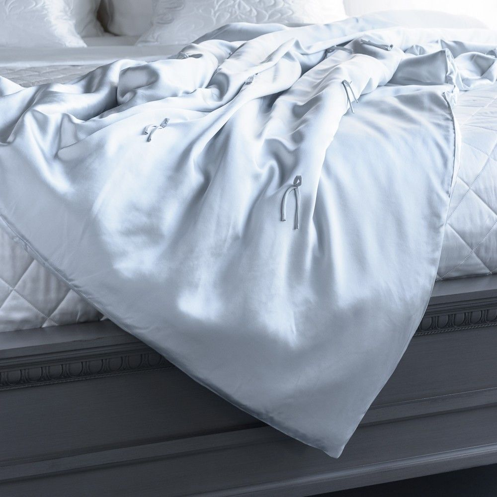 Silk Throw - Silk Duvet Covers, Coverlets and Throws - Shop Bedding - $299.00