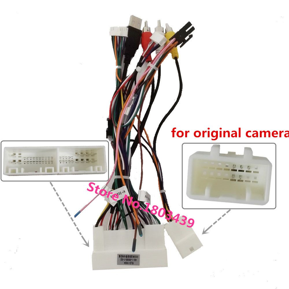 power adapter wiring harness for klyde kia k2 k3 k5 k7 rio sorents sportage hyundai ix35 ix45 tucson elantra santa fe car radio [ 1000 x 1000 Pixel ]