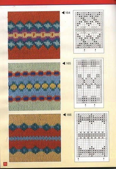 lutik-вязание крючком и спицами: жаккардовые узоры ...