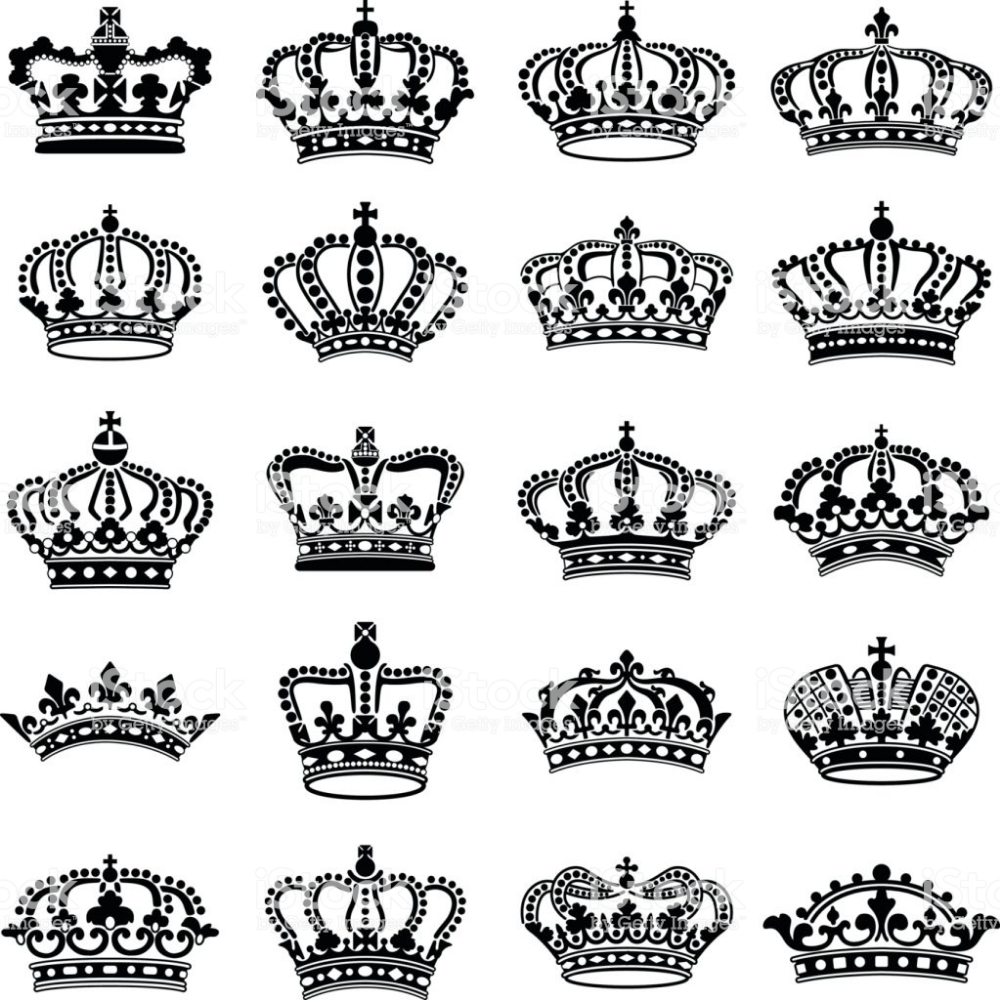 Crown Icon Collection Vector Silhouette Royalty Free Crown Headwear Stock Vector Crown Finger Tattoo Crown Tattoo Design Crown Tattoo