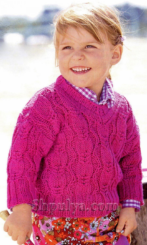 схема вязания кофты для мальчика спицами 92 см