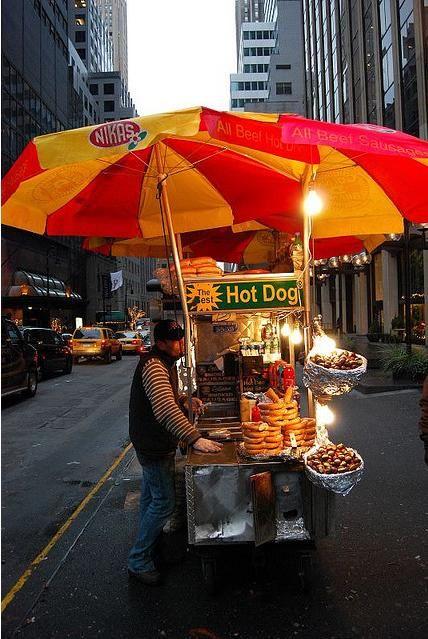 New York Hot Dog Cart I Remember This Growing Up Hot Dog Cart