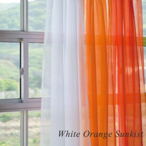 Orange And White Sheer Curtains Curtains Sheer Curtain Panels Panel Curtains