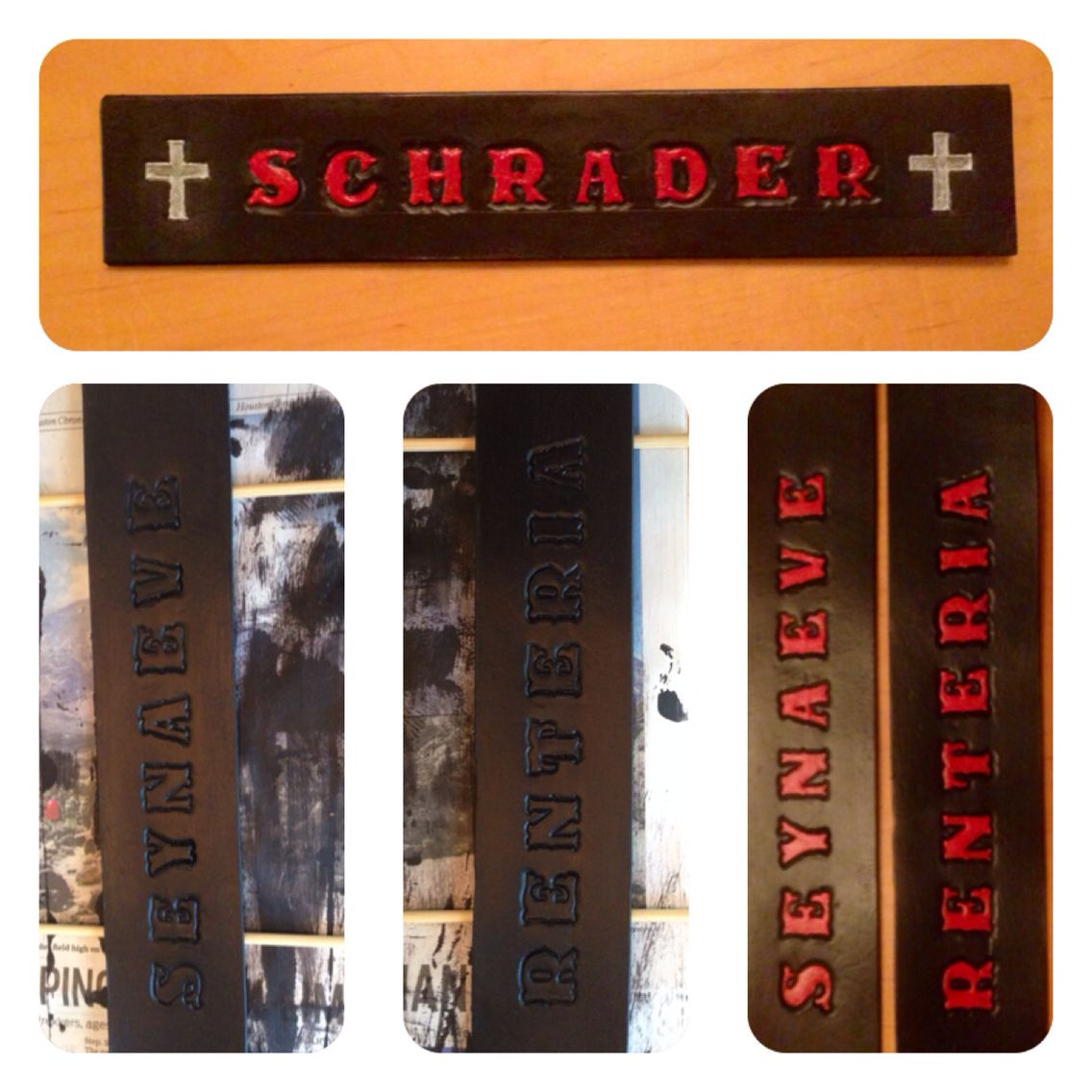 Custom locker name plates for the guys at the fire station